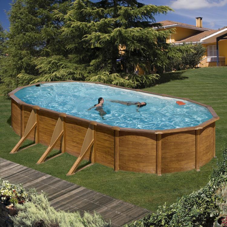 basen w imitacji drewnianej